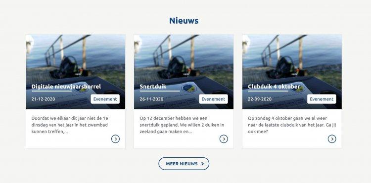 Homepage nieuws overzicht