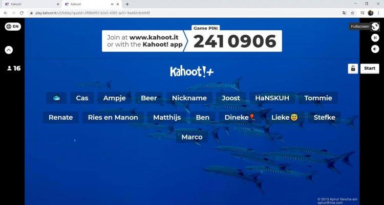 Tijd voor de Kahoot
