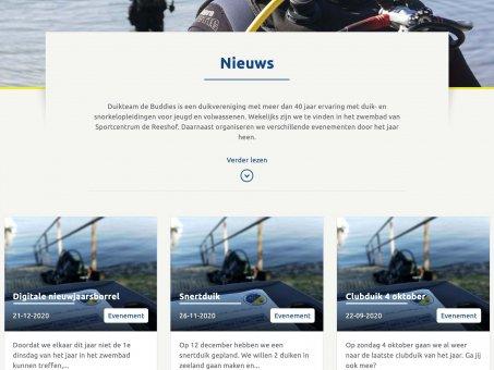Nieuwe pagina op de website